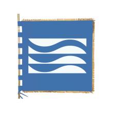Geborduurde kunstvlaggen