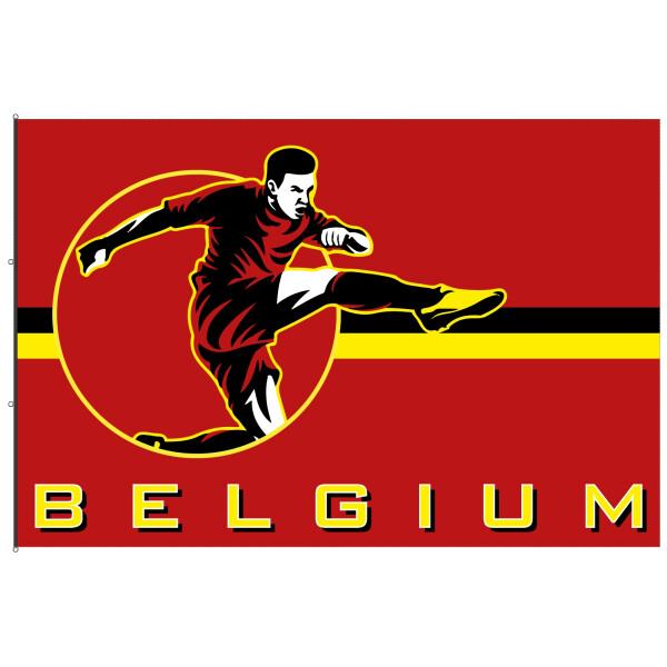 Supporters flag Belgium European Championship 2021
