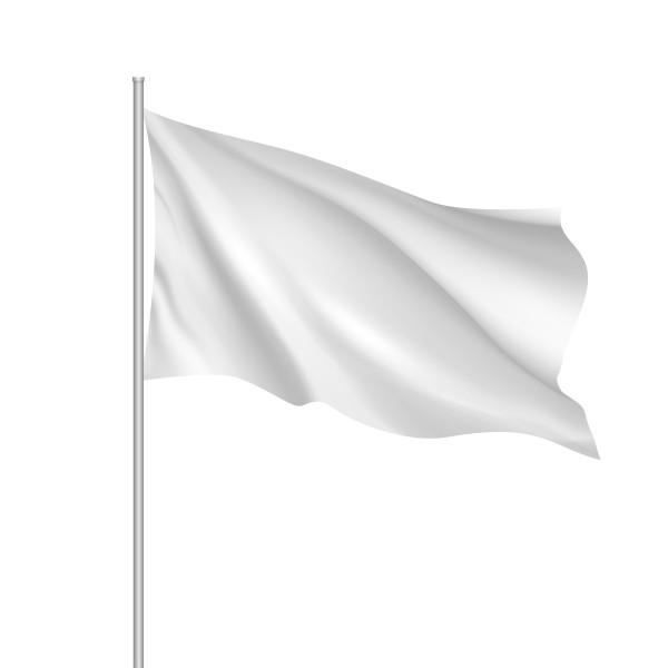 Effen witte vlaggen