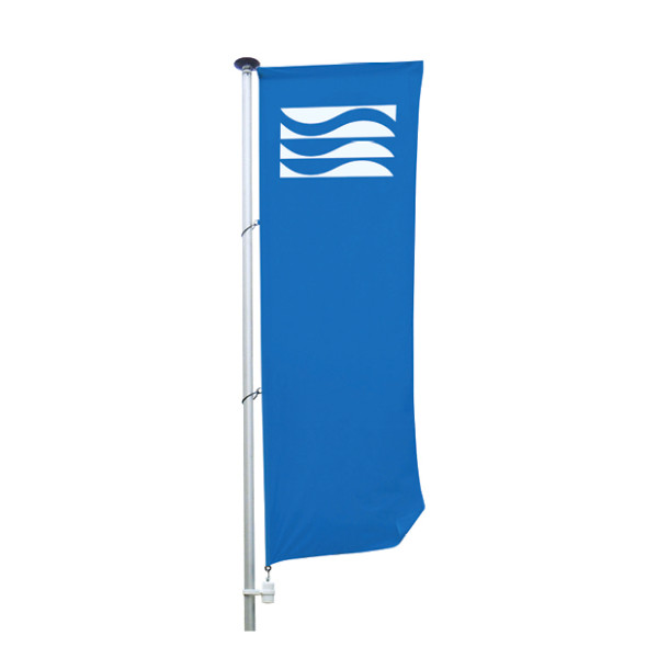 Pole flags with sleeve