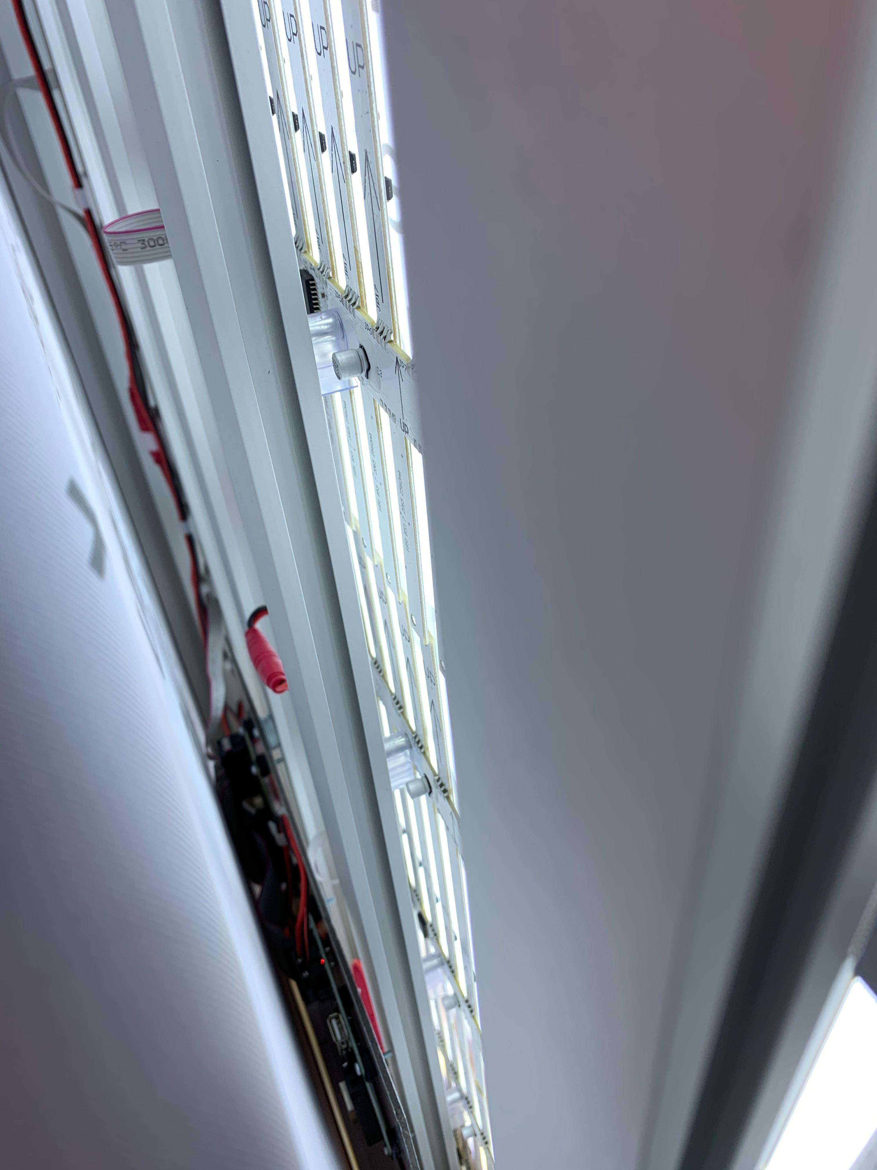 Close-up van binnenkant dynamische lichtbox